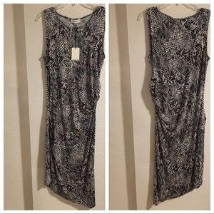 Calvin Klein Snake Skin Print Dress - Size M